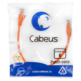 Патч-корд Cabeus PC-UTP-RJ45-Cat.6-0.3m-OR