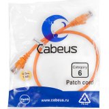 Патч-корд Cabeus PC-UTP-RJ45-Cat.6-0.5m-OR