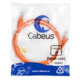 Патч-корд Cabeus PC-UTP-RJ45-Cat.6-1m-OR